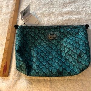 Coach Bags - NWT COACH F77444 EMERALD GREEN/BLACK COSMETIC BAG